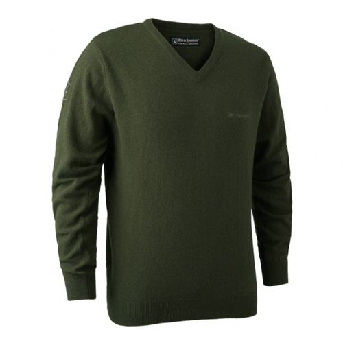 Deerhunter Brighton  V Neck Pullover: Green